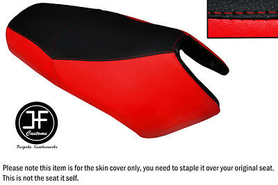 Red & Black Automotive Vinyl Custom Fits Yamaha Bws Yw 125 Dual Seat Cover Only • 58.42£