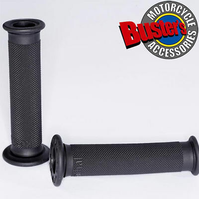 New Renthal Road Race Motorcycle Handlebar Grip Firm Grey Compound Grips Pair • 10.95£