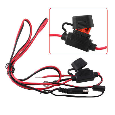 12V Motorcycle SAE To USB Phone GPS Charger Cable Adapter Fuse Waterproof NEW • 10.73£