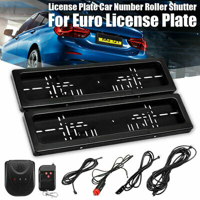 Electr Hide Stealth License Plate Car Number Roller Shutter Protect Cover&Remote • 65.97£