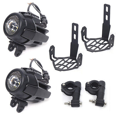 Motorcycle LED Auxiliary Spot Fog Light Safety Driving Spotlight Fit BMW R1200GS • 64.99£