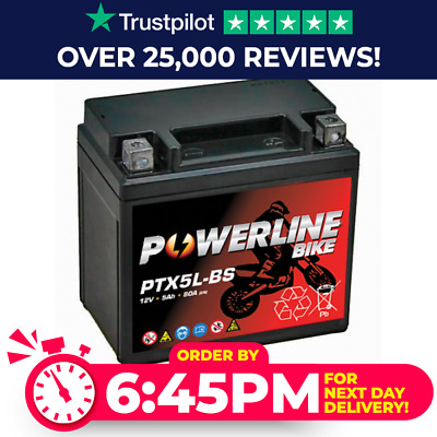 Quality Battery Ytx5lbs Peugeot V-clic Vclic 50 Scooter • 19.99£