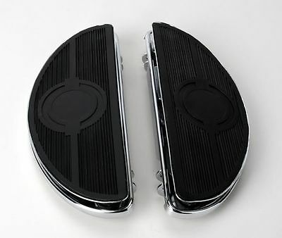 Chrome Half-Moon Floorboards With Vibration Inserts For Harley-Davidson • 89.61£