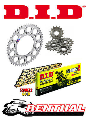 Renthal / DID Chain & Sprocket Kit To Fit Honda CRF 250 R 2011-2015 • 100.93£