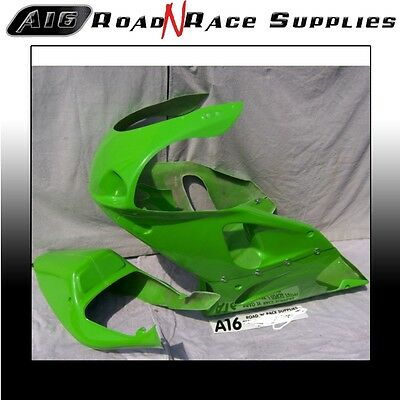 Kawasaki ZX7R GREEN A16 RACE FAIRING & SEAT Bodywork With Dzus Fasteners Fitted • 340£
