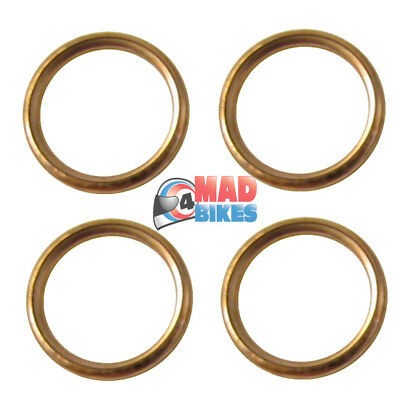 Yamaha YZF1000 R1 Exhaust Gasket Seals Set Of 4 , Copper Type 1998 To 2008 • 5.99£