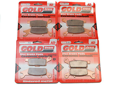 Goldfren Brake Pads Front & Rear For Yamaha YFM 550 FWA Grizzly IRS 2011-2014 • 47.80£