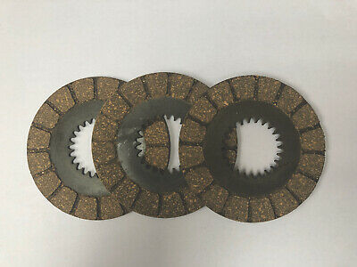 Bsa Bantam D1-d7 Clutch Friction Plates Set Of 3 Oem 90-1318 A904 • 34.50£