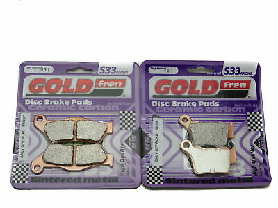 Goldfren S33 Brake Pads Front & Rear For Ktm EXC 200 Inc Six Days 2009-2014 • 23.90£