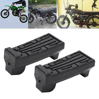 Pair Footrest Motorcycle Front Foot Rest For Yamaha YBR 125 Rubbers Footrest  • 5.99£