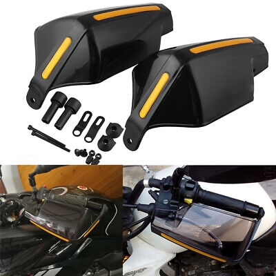2x Winter Motorcycle Hand Guards Hnadlebar Wind Deflector Shield Cover Universal • 14.99£