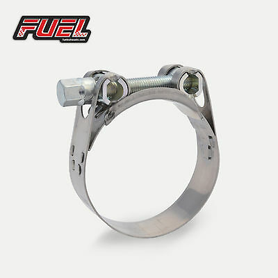 51-55mm W2 Motorcycle Exhaust Clamp, Norma Stainless Clip, Bracket, Banjo, Strap • 4.29£