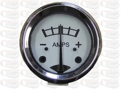 Lucas Type Ammeter, White Faced Ideal For Classic / Vintage Motorcycles • 20.70£