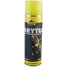 PUTOLINE DRYTECH MOTORCYCLE CHAIN LUBE, LATEST PTFE LUBRICANT NON FLING 500ml • 10£
