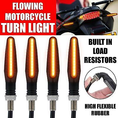 4x Universal 12 LED Motorbike Motorcycle Indicators Turn Signal Light 12V Amber • 5.82£