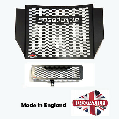 1050 Speed Triple (11-15) Beowulf Black Radiator & Oil Cooler Guards T017ROCPCB • 86£