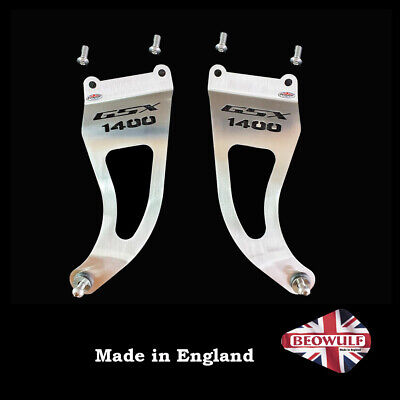 GSX1400 (01-04) Pair Of Stainless Steel Exhaust Hangers By Beowulf EXHBSU009 • 82£