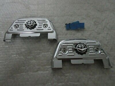 Harley Softail Touring Road King Classic Passenger Chrome Floorboard Covers • 47.85£