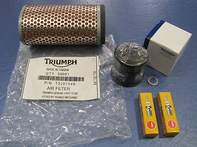 Triumph Service Kit Bonneville T100 Oil Filter,air Filter, Spark Plugs  • 41.56£
