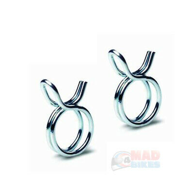 Petrol Pipe Clips Motorcycle Fuel Hose Clamps To Use With 6mm I.D. Fuel Pipe • 1.99£