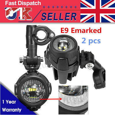 2x Spot LED Auxiliary Fog Light Driving Lamp Motorcycle For BMW R1200GS F800GS • 58.98£