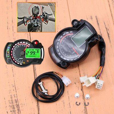 Universal Digital LCD Backlight Motorcycle Speedometer Odometer Tachometer Gauge • 35.46£