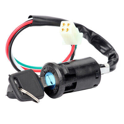 Universal Motorcycle 4 Wire Ignition Barrel Key Quad On/Off Switch For Honda ATV • 5.99£