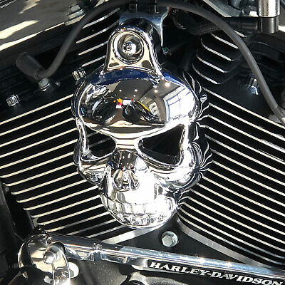 Motorcycle Chrome Skull Horn Cover For Harley Davidson Cowbell Horns • 31.99£