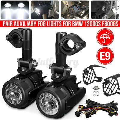 Motorcycle LED Auxiliary Spot Fog Light Driving Spotlight For BMW R1200GS F800GS • 63.79£