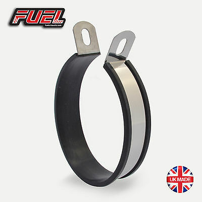Motorbike Exhaust Hanger / Stainless Mounting Bracket - Oval Central - 110mm Dia • 12.95£