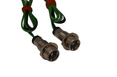 Single LED Light For Chopper Streetfighter Motorbike Project - Small - GREEN • 14.69£