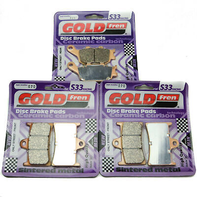 Goldfren S33 Brake Pads Front & Rear For Yamaha MT-07A ABS 689cc 2Cyl 2014-2018 • 35.85£