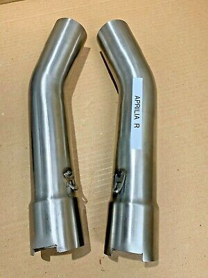 Aprilia RSV Mille Factory Tuono UK Made T304 Stainless Steel Exhaust Link Pipes • 84.80£