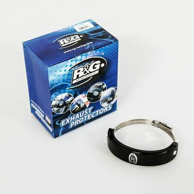 R&G Oval Supermoto Motorcycle Exhaust Protector - Black • 34.99£