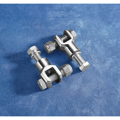 Chrome Footpeg Clevis Mounts With 3/8  X 24 Thread For Harley-Davidson • 23.47£