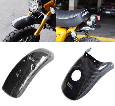 2 Set Carbon Fender Fairings Cover Mud Guard Abs For Honda Z125 Monkey 125 18-20 • 138.49£