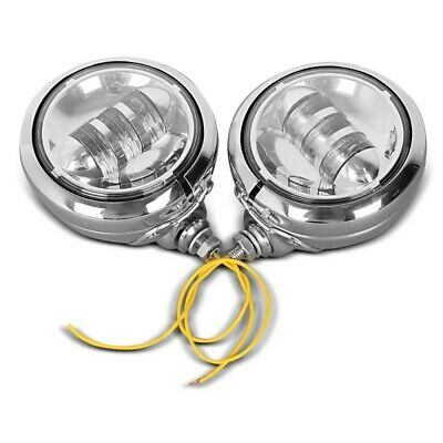 LED Auxiliary Spot Light Set 4.5  For Indian Scout / Bobber / Sixty Chrome • 102.91£