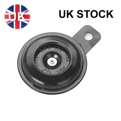 Motorcycle Electric Horn Motorbike Loud Horn 12Volt 1.5A 105db Round Black 12V • 4.35£
