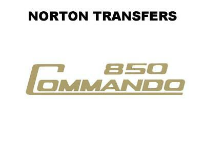 Norton Commando 850 Transfer Decal Classic Motorcycle D50196 Gold • 5.99£