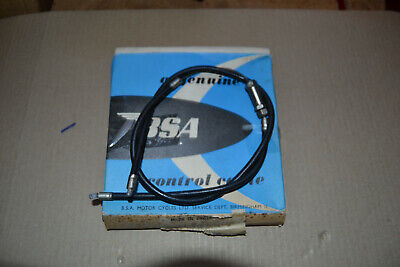 BSA A65 Throttle Cable, Part 68-8763, Genuine BSA New Old Stock • 8£